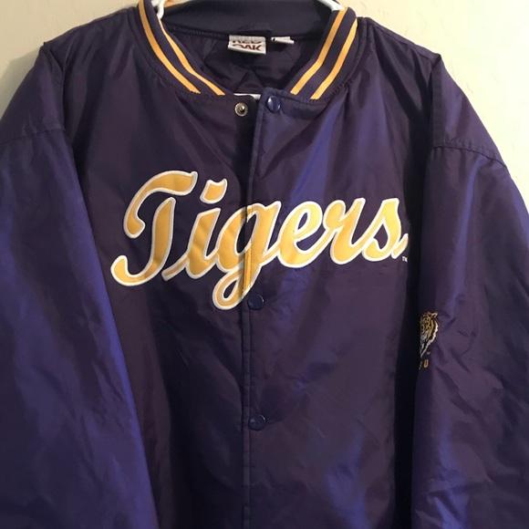 new style a8a92 61e3d Vintage LSU Baseball Warmup Jacket XXL
